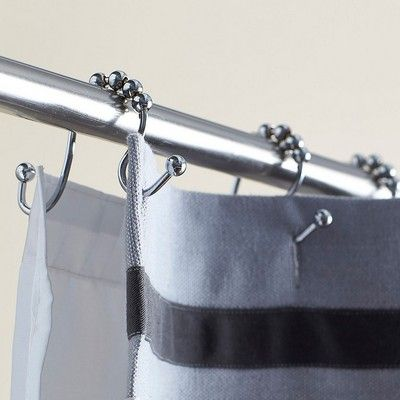 Simple Vintage Style Rolling Shower Curtain Rings With Unique