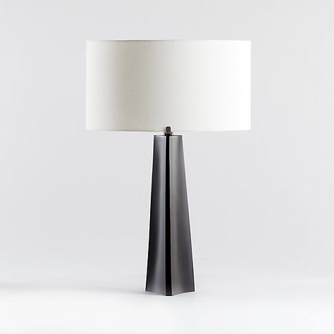 Isla Bronze Triangle Table Lamp in 2020 | Table lamp, Crate