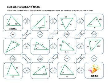 30++ Sine law and cosine law worksheet Education