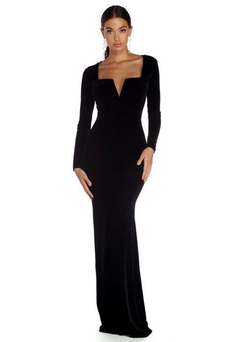 Brianne Plunging Formal Velvet Dress in 2