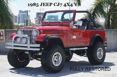 Ebay Jeep Cj 1985 Jeep Cj7 4x4 1985 Jeep Cj7 4x4 Fully Restored