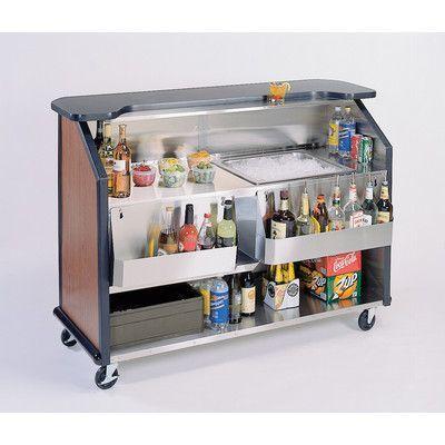 Lakeside Manufacturing Party Pleaser Portable Bar Solid Wood Liquor Display Rack Cabinet Wayfair In 2020 Portable Bar Ice Bins Bar