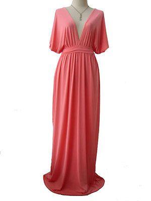 Kimono maxi dress white xl