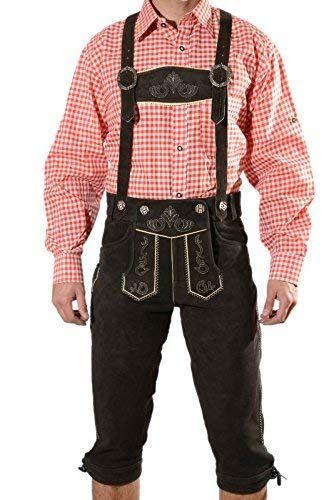 Bayerische Herren Trachten Lederhose Trachtenlederhose mit