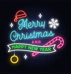 Merry Christmas And Happy New Year Neon Sign With Neon Signs Cute Christmas Wallpaper Christmas Phone Wallpaper
