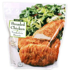 Trader Joe S Breaded Chicken Tenderloin Breasts Trader Joes Bread Breaded Chicken Chicken Tenderloins