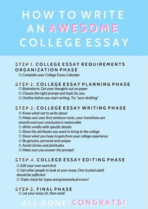 HOW TO WRITE AN AWESOME COLLEGE ESSAY