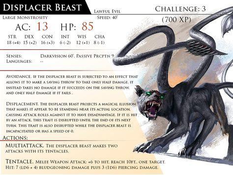 Dnd 5e Displacer Beast