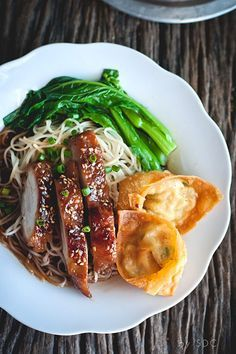 Resipi Wantan Mee Kicap Yummy Noodles Cooking Meat Chinese Cooking
