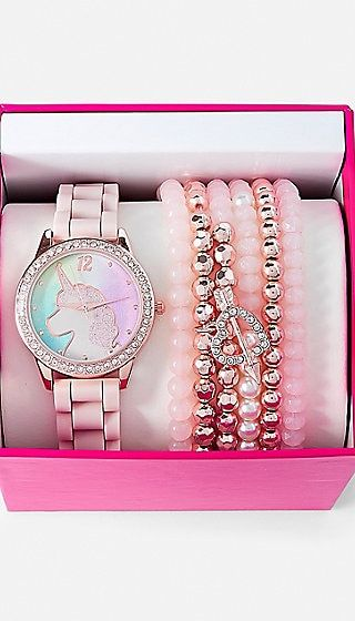 Unicorn Watch & Bracelet Set | Justice