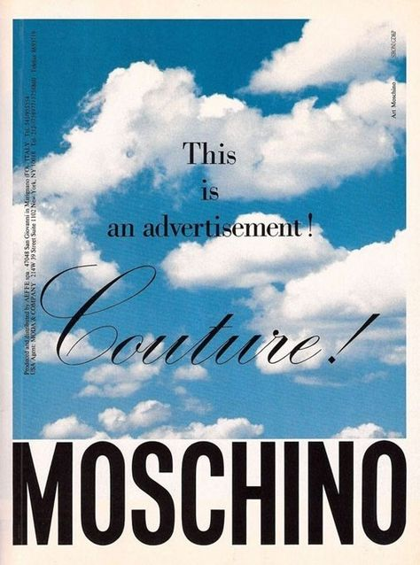 Moschino's rebellious old school ads