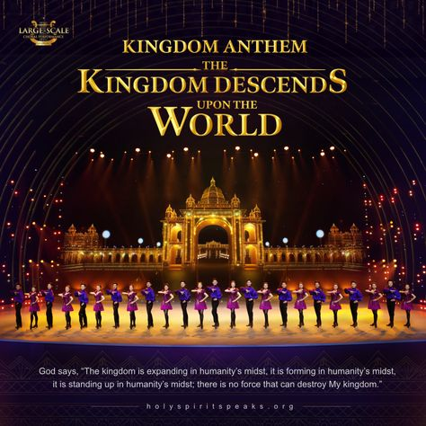 When speaking of the descending of #God's_kingdom, all brothers and sisters, I think, will pay more attention to it and long for the scene, for this is our great wish. Then what a happy scene is it when God's kingdom descends?《Kingdom Anthem (I) The Kingdom Has Descended on the World》 is coming to show, it will bring us a shocking hymn by which we celebrate the coming of the exciting moment. Let us look forward to it! #Choir #Christian_Music #Praise_God #gospel_worship_songs #God #Christian