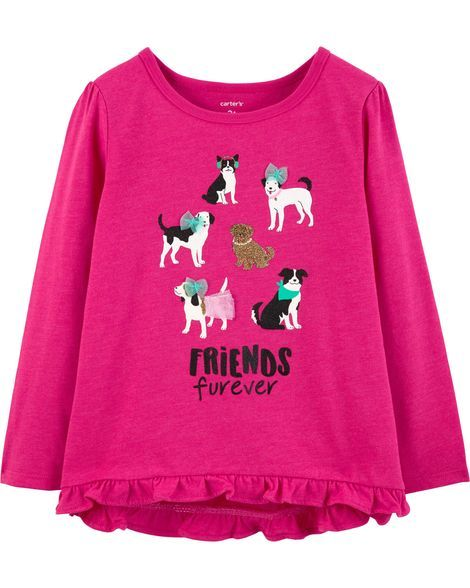 3a6c2995 Friends Furever Hi-Lo Ruffle Tee in 2019 | Products | Carters baby ...