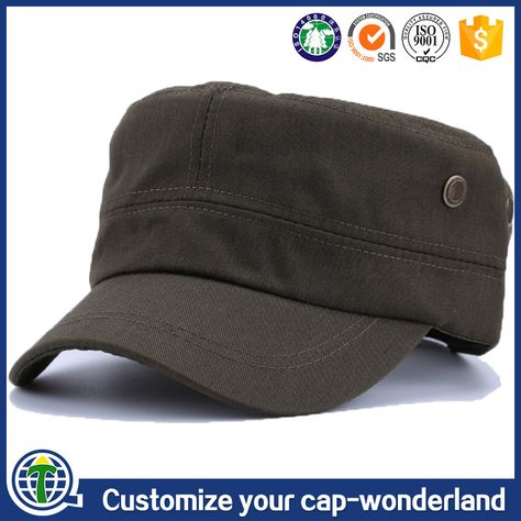 Flat top bancroft officer wholesale types of hats indian army cap ... a61df7a8a5ef