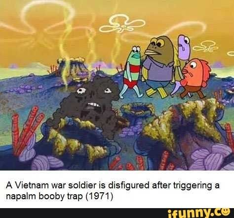 A Vietnam War Soldier Is Disfigured After Triggering A Napalm