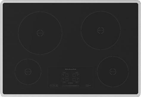 Kitchenaid 30 Built In Electric Induction Cooktop Stainless Stainless Look Induction Cooktop Cooktop Cool Things To Buy