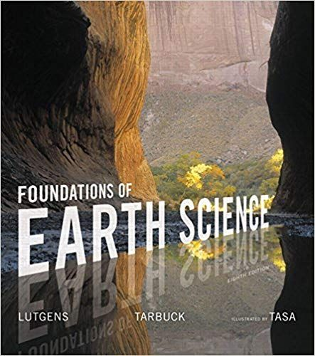Foundations Of Earth Science 8th Edition By Frederick K Lutgens Isbn 13 978 0134184814 Earth Science Science Science Background