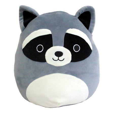 Squishmallow Raccoon 16 Inch 1 Ea Animal Pillows Plush Animals Cute Stuffed Animals