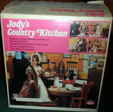 IDEAL: 1975 Jody's Country Kitchen Playset #Vintage #Toys