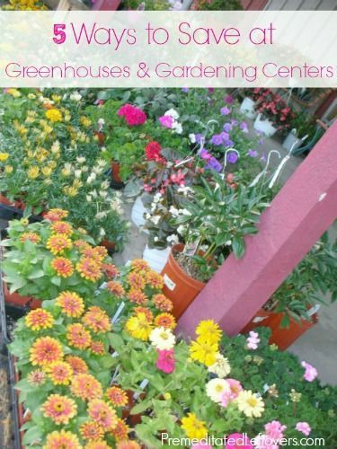 How to Save Money at Greenhouses and Gardening Centers - 5 ways to saving money on flowers, bushes, trees, and landscaping items for your yard.