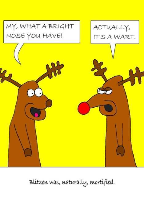 Humorous Christmas Cards.Christmas Humorous Cartoon Reindeer Card Packaging Design