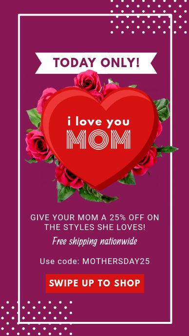 Purple Mother S Day Sale Instagram Story Mothers Day Advertising Instagram Story Ads Instagram Story