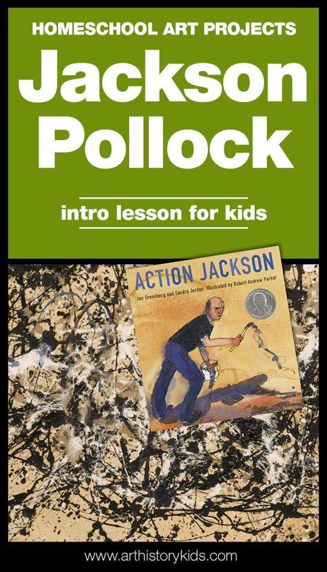 Jackson Pollock and Action Painting for Kids — Art History Kids -  Homeschool Art – Jackson Pollock Project for Kids  - #Action #Art #companyHistory #History #Historycriativos #Historylayout #Historypainting #Jackson #Kids #Painting #Pollock