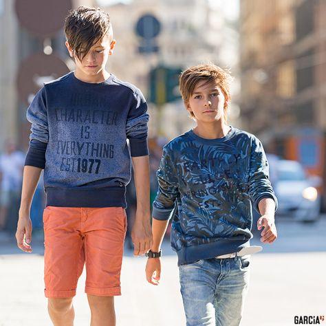 Denim und viel Blau bei den Jungs #Garcia