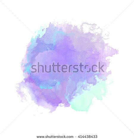 Vector Watercolor Background Isolated Watercolor Texture Stains
