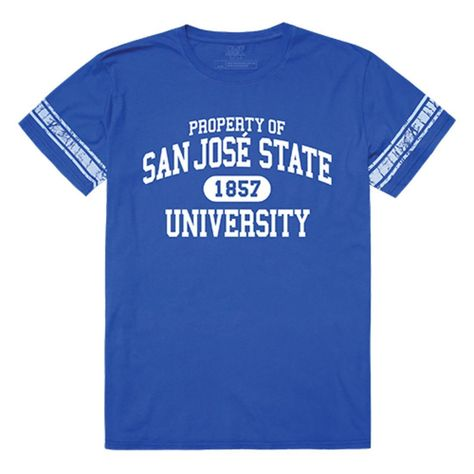 SJSU San Jose State University Spartans Property T-Shirt Royal - Small