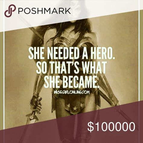 Spotted while shopping on Poshmark: You are your own hero.! #poshmark #fashion #shopping #style #Other