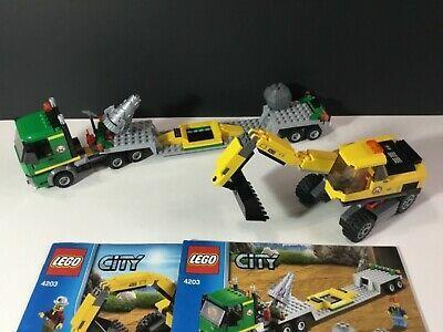Ebay Hot Deal Lego City 4203 Excavator Transport 100 Complete W New Manuels