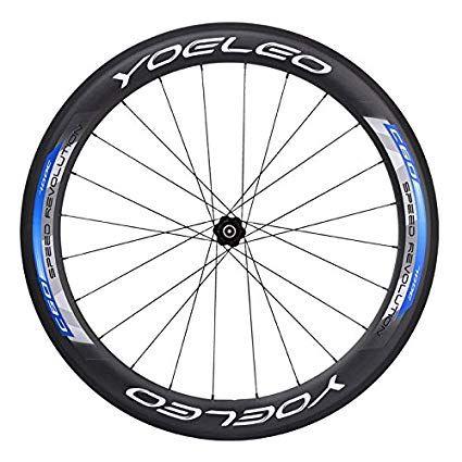 Yoeleo Carbon Bicycle Wheels Sat C60 Blue Clincher Road Pro 700c
