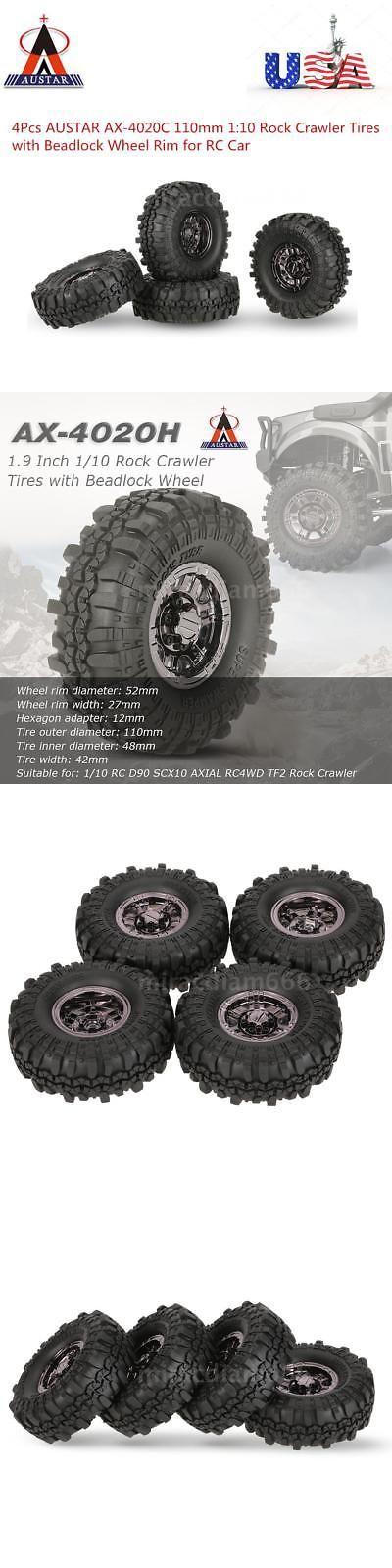 4X 1.9 Inch Wheel Hub Beadlock Wheel Rim for 1:10 RC Rock Crawler SCX10 D90 LO