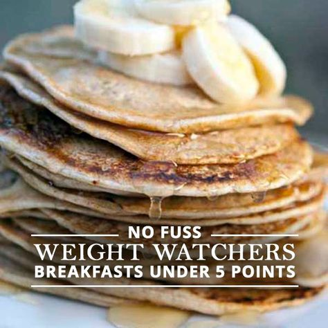 5 Weight Watchers Breakfasts with 5 Points or Less #weightwatchers #breakfasts