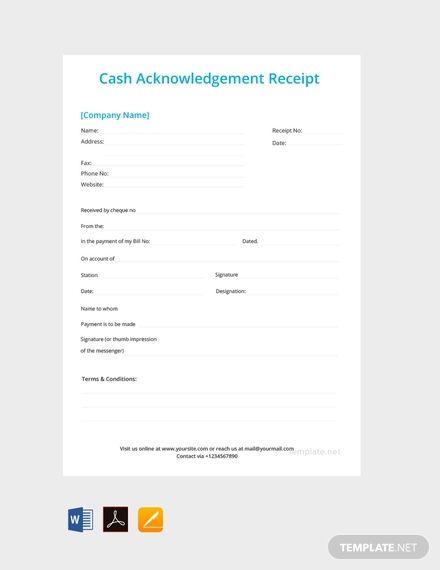 Cash Acknowledgement Receipt Template Free Pdf Word Doc Apple Mac Pages Google Docs Receipt Template Word Doc Templates Printable Free