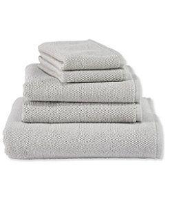 Organic Textured Cotton Towel Set Towel Cotton Towels Grey Linen Bedding