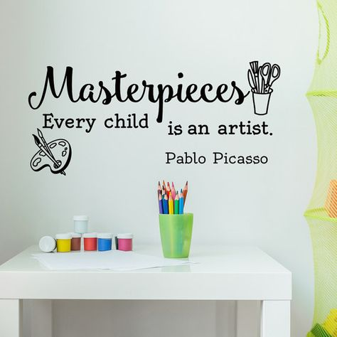 masterpieces wall decal- every child is an artist wall decal quote