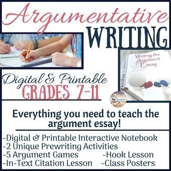 Argument Writing W Argument Games And Citing Evidence Game Distance Learning Argumentative Writing Argumentative Essay Writing Units