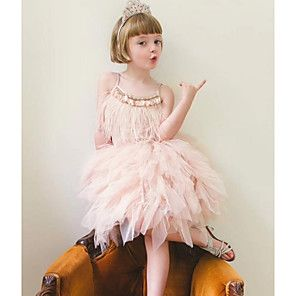 Kinder Madchen Grundlegend Staubige Rose Solide Armellos Kleid Grau Mit Bildern Blumenmadchen Kleid Madchenkleid Kleider
