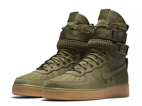 Adaptable Nike Air Force 1 Retro Olive Green Brown Men's