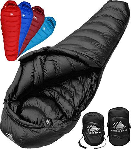 Ultralight Mummy Down Sleeping Bag 15 Degree 4 Season Lightweight Design For Backpacking Thru Hiking And Camping Includes Compression Sack Black Long Lightweight Sleeping Bag Down Sleeping Bag Backpacking Sleeping Bag