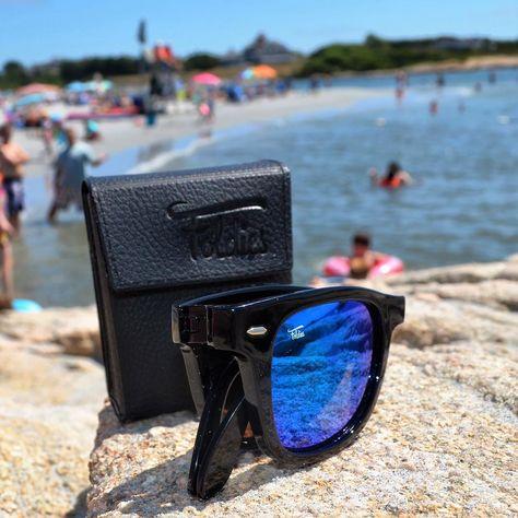 b2b4b82375 Beach days and folding sunglasses