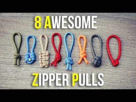 diy zipper pulls ideas - diy zipper pulls - diy zipper pulls how to make - diy zipper pulls ideas - diy zipper pulls simple Paracord Zipper Pull, Paracord Knots, Paracord Keychain, Rope Knots, Paracord Bracelets, Knot Bracelets, How To Braid Paracord, Survival Bracelets, Gemstone Bracelets