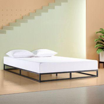 Black Low Rise Pilato Bed Frame Temple Webster Bed Frame