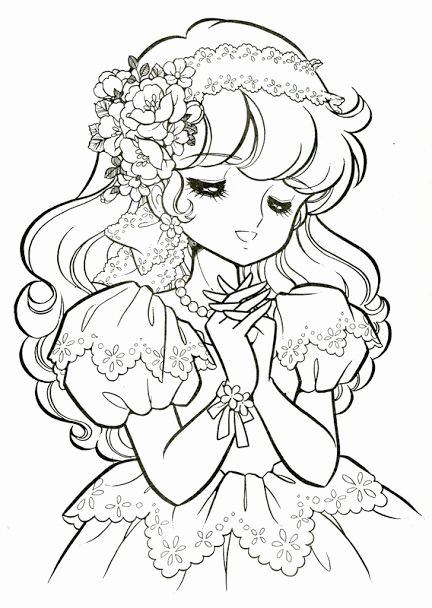 Japanese Anime Coloring Pages Beautiful Vintage Japanese Coloring Book 7 Princess Coloring Princess Coloring Pages Cute Coloring Pages