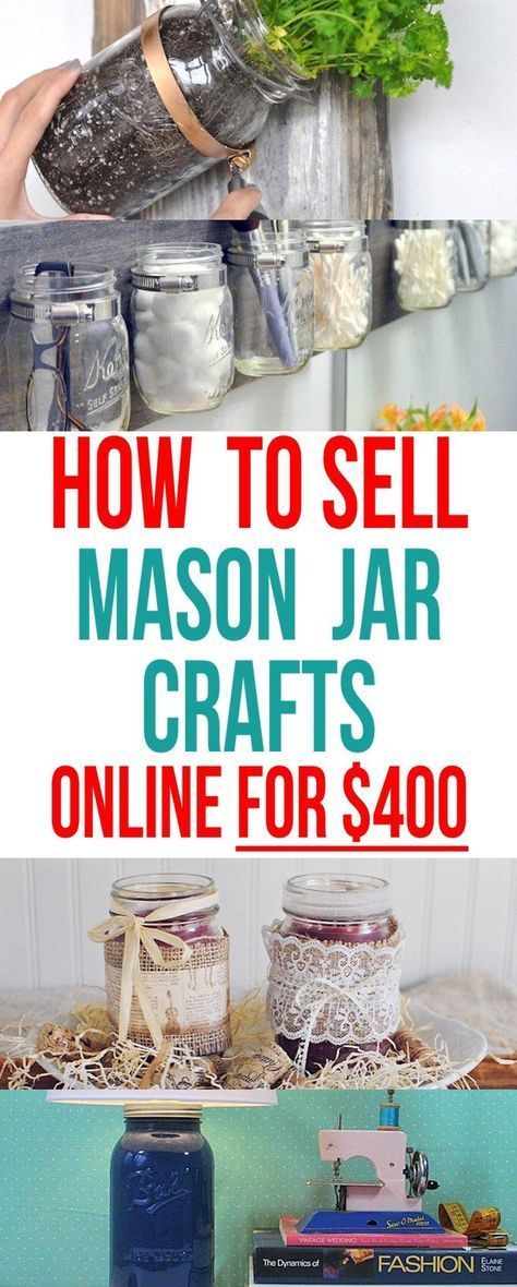 How to sell mason jar projects online for $400+. Mason jars crafts are in demand! Did you know people are selling them online for over $400?