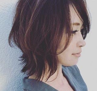 お客様のヘアスタイルの紹介です 最近instagramの写真でオーダーされ