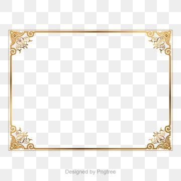 الذهب الرجعية الزخرفية تصميم الحدود Clipart صورة فوتوغرافية ذهبي Png والمتجهات للتحميل مجانا Frame Border Design Photoshop Backgrounds Free Free Photoshop