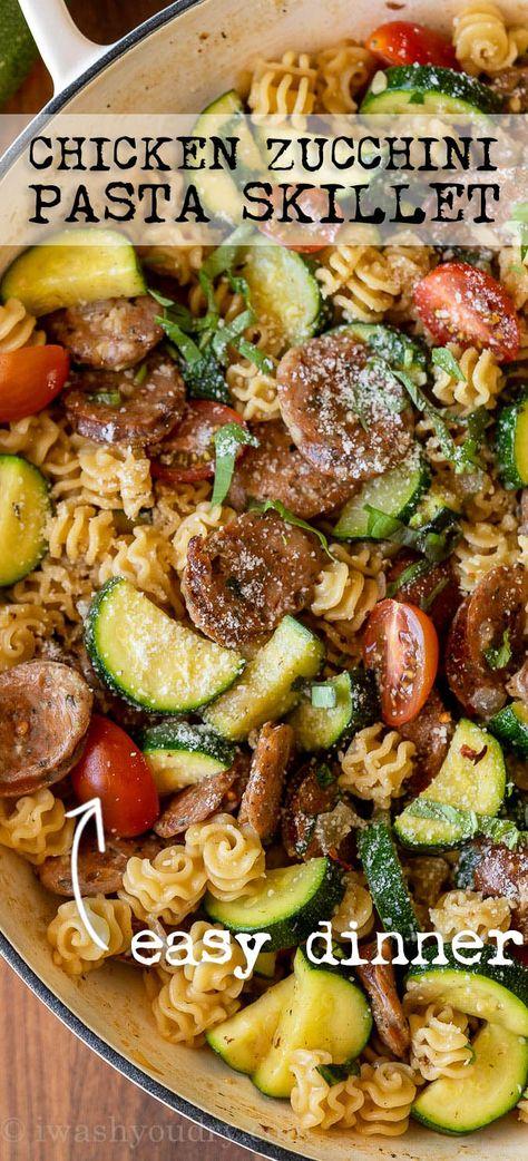 Chicken Zucchini Pasta, Zucchini Pasta Recipes, Chicken Sausage Pasta, Easy Chicken Dinner Recipes, Chicken Pasta Recipes, Healthy Pasta Recipes, Healthy Pastas, Beef Recipes, Cooking Recipes